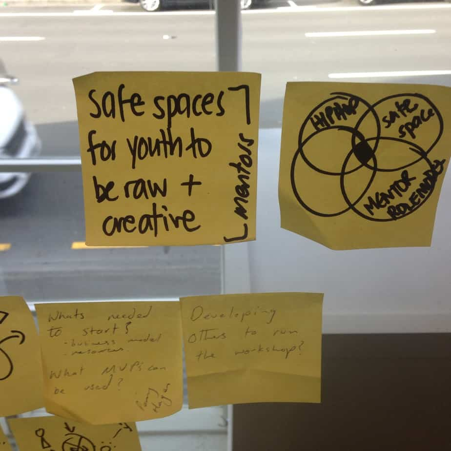 Safe Space for young people to be raw & creative