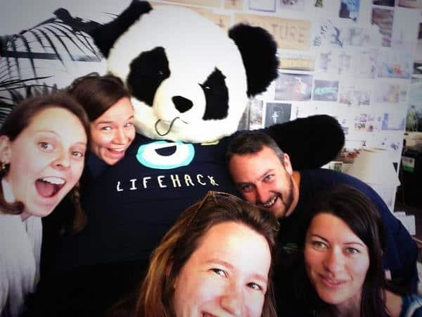The Lifehack 2014 Crew Selfie - sadly missing Kaye-Maree & Mita!