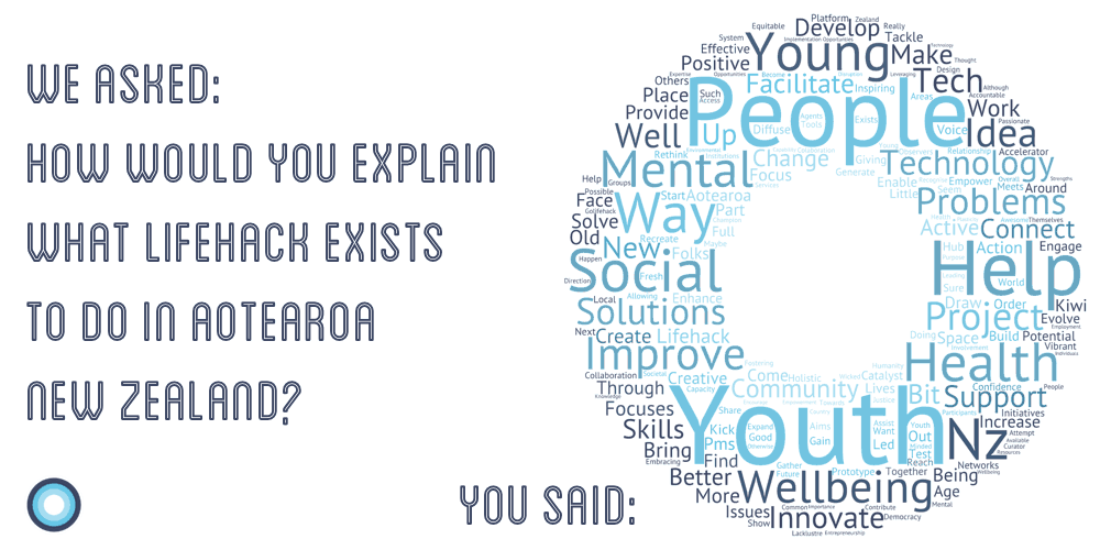 Lifehack Crowdsourced Community Insights on Why We Exist - in a word cloud