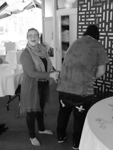 Participant laughing at the Palmerston North Codesign Summit