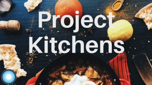 Project kitchen header