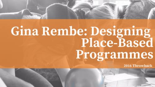 Designing Place-BasedProgrammes (4)