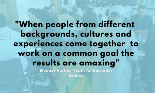 """When people from different backgrounds, cultures and experiences come together to work on a common goal the results are amazing"""
